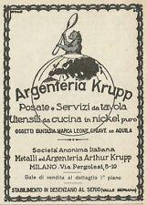 W3534 Argenteria KRUPP posate e servizi da tavola - Pubblicità 1927 - Advertis.