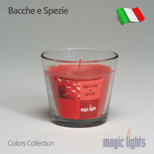 CANDELA PROFUMATA PER AMBIENTE CASA MAGIC LIGHTS COLORS BACCHE E SPEZIE 150GR