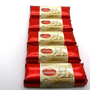 Plain Chocolate Covered Marzipan Bar 75g Premium Marzipan Lübecker Edel