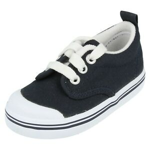 Boys or Girls Keds Navy Casual Lace Up Pumps / Trainers : Scooter