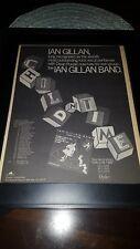 Ian Gillan Band Child In Time Rare Original Promo Poster Ad Framed!