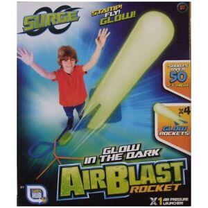 Stomp Rocket Glow Garden Launch Shooter Air Power Safe Foam Toy 4 x ROCKETS!