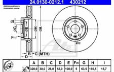 2x ATE Disques de Frein Avant Ventilé 328mm Pour VOLVO XC60 24.0130-0212.1