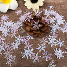300pcs Classic Snowflake Ornaments Christmas Tress Holiday Party Home Decoration