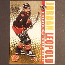 JORDAN LEOPOLD RC /450  2002-03 Vanguard LTD #107  Calgary Flames  Rookie single