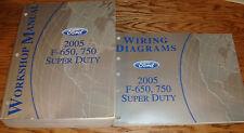 2005 Ford F-650 750 Super Duty Shop Service Manual + EVTM Wiring Diagram Set 05