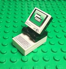 Lego New MOC Computer / City Mini Figures Desktop With Monitor And Keyboard Tile