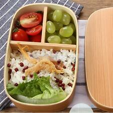 Japan-style Vintage Wooden Bento Sushi Lunch Box Picnic Food Container Natural