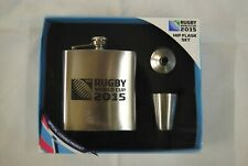 IRB RUGBY WORLD CUP 2015 HIP FLASK SET OFFICIAL LICENSED PRODUCT NEW PYRAMID
