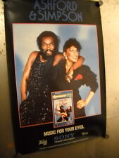 ASHFORD & SIMPSON Vintage PROMO POSTER Music For Your Eyes