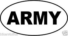 ARMY OVAL BUMPER STICKER TOOLBOX STICKER LAPTOP STICKER HELMET STICKER