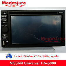 "6.2"" Double 2 DIN Car DVD Player Stereo GPS for Nissan universal Radio BT CD"