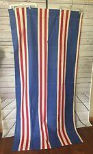 * 2 Vintage Patriotic Curtain Panels 41 x 82 Red White Blue Americana