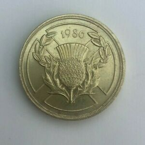 """1986  - £2 Two Pound Coin """"SCOTTISH COMMONWEALTH GAMES"""""""