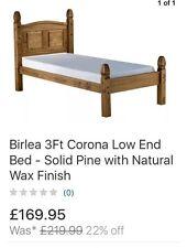 Brand New Birlea 3Ft Corona LowEnd Bed, Solid Pine Single Bed Frame & Headboard