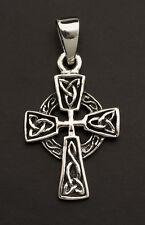 Crucifix Croix Celtique Pendentif Celte Irlandais en Argent 925-3.3g K57 25890