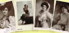 ☆ EDWARDIAN THEATRE / MUSIC HALL ACTRESS / DANCER ☆ 1900s Postcards LIST 33