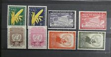 TIMBRES NATIONS UNIES NEW YORK : 1954 YVERT TELLIER N° 23 à 30** ANNEE COMPLETE