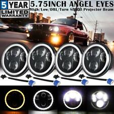 """4X 5.75"""" 5-3/4"""" Round LED Headlights Halo DRL Projector Beam for BMW 325i 75-91"""