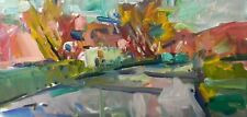 "JOSE TRUJILLO OIL PAINTING LOOSE STYLE IMPRESSIONISM LANDSCAPE 20"" CANVAS COA"