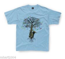 Saxophone T-shirt Saxophonist Musical Tree in Kids sizes up to 11yr-12yrs