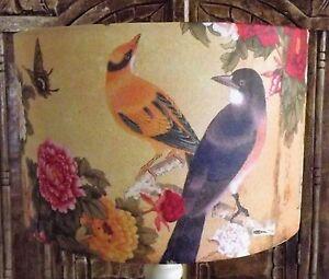 Oriental Bird Lampshade Shabby Chic vintage  Antique  FREE GIFT