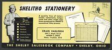 SHELITHO STATIONERY Advertisement Ink Blotter CRAIG EAGLESON AKRON OHIO ShelbyOH