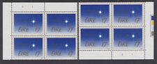IRELAND, Scott #603-605: Top & Btm Plate Blocks(6), MNH - 1984 Christmas