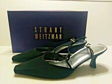 Stuart Weitzman Gloambiance Black Peau Multi Strap Rhinestone Pumps Size 6.5
