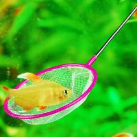 2018 Aquarium Fish Tank Mix Color Dense Mesh Round Fishing 36cm-w Net Pore S5O9
