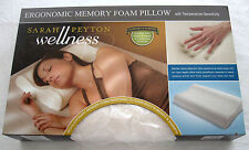 New Sarah Peyton Wellness Ergonomic Memory Foam Pillow Temp Sensitivity