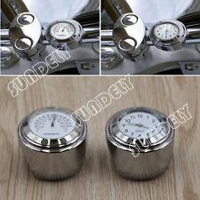 Motocicleta Manillar de montaje 7/8 Pulgadas Cuadrante Reloj Reloj Termómetro Medidor GM BLANCO