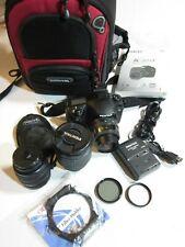 PENTAX Pentax K K20D 14.6MP Digital SLR Camera with 3 Lenses, Charger & Case +