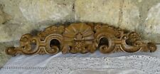 """25""""  Antique French Hand Carved Wood Walnut Pediment-Finely Carved on Two Sides"""