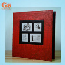 High-grade PU 6 inch 400 Pockets photo album for family (Red)
