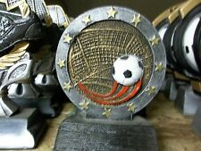 "nice soccer trophy award team or participation, about 4.5"" High, w/ engraving"