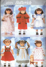 """Doll Clothing PATTERNS 18"""" Nightgown DRESS Pinafore COAT Tights SOCKS Shoes"""