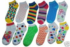 VH Stripes Polka Dot Bright Assorted No Show Set of 6 Pair Pack Ladies Socks New