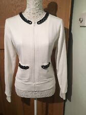 Love Moschino Jacket White Size 8 Necklace Neckline BNWOT