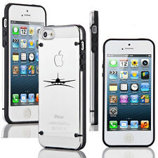 For Apple iPhone 5 5s 6 6s 7 Plus Ultra Thin Clear Hard TPU Case Cover Airplane
