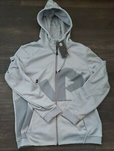 NWT Under Armour Men's Large Full Zip Hooded Sweatshirt, Sz L, Grey