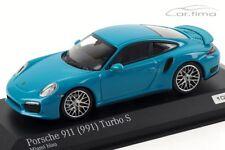 1:43 MINICHAMPS 2013 PORSCHE 911 (991) Turbo S miami blue LE 200 cartima Excl.