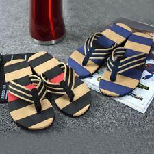 Men Summer Stripe Flip Flops Shoes Sandals Male Slipper Flip-flops
