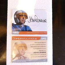 Gerry Anderson UFO JOHN LEVENE AS INTERCEPTOR PILOT AUTOGRAPH CARD 1:150 & PROMO