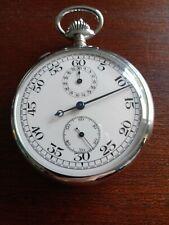 Chrome plated split time stopwatch.