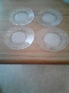 """8 Pcs. Princess House Fantasia Frosted  Center  Plates: 4 - 10"""" Dinner, 4 -  8"""""""