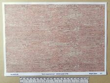 """OO/HO gauge (1:76 scale) """"Old & repaired brick"""" -  paper - A4 sheet"""