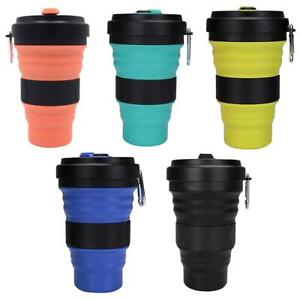 550ml Folding Cup Outdoor Portable Silicone Telescopic Coffee Water Cup