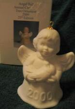 GOEBEL 2000 25th Edition White Bisque Angel Bell Holding Dove Christmas Ornament