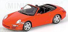 Porsche 911 997 Carrera S Cabriolet 2005 - 2004-08 indischrot red 1:43 Minichamp